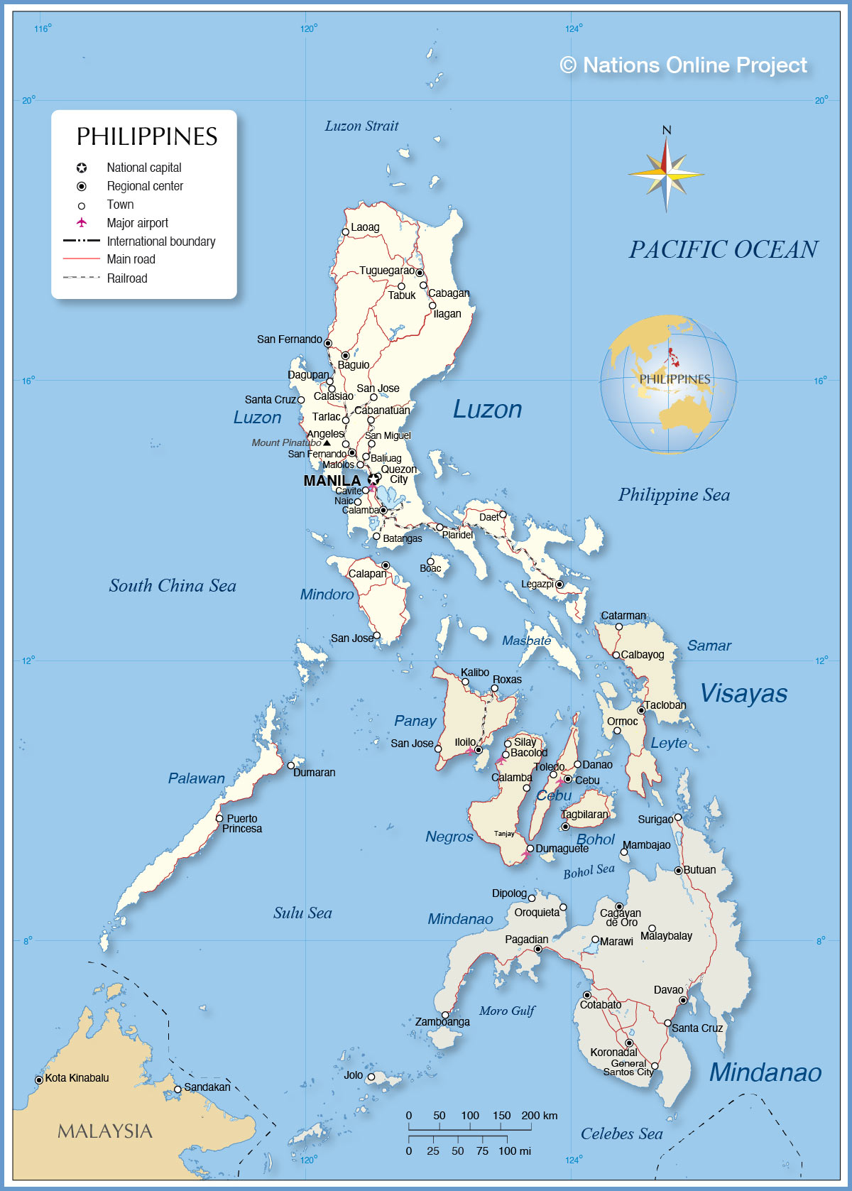 Philippines map, journal of wild culture ©2020