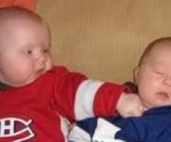 Hockey infants fighting