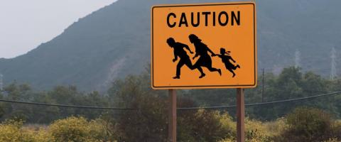 Immigrants 'caution sign', journal of wild culture, ©2018