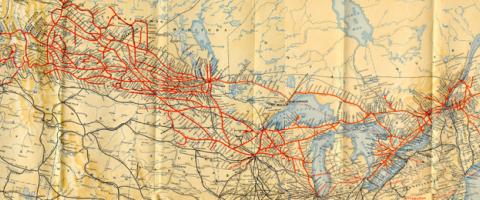 Map of Canadian border, Journal of Wild Culture, ©2015