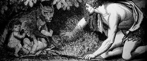 Romulus and Remus, the she-wolf, journal of wild culture ©2021