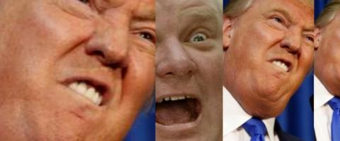 Donald Trump and Rob Ford