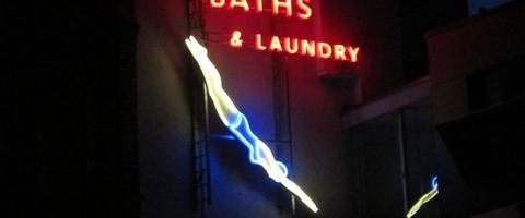 Hornsey Baths sign