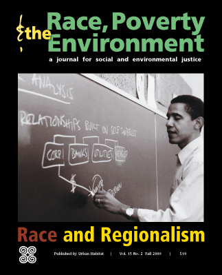 Race, Poverty and the Environment magazine cover Barach Obama, journal of wild culture 2020