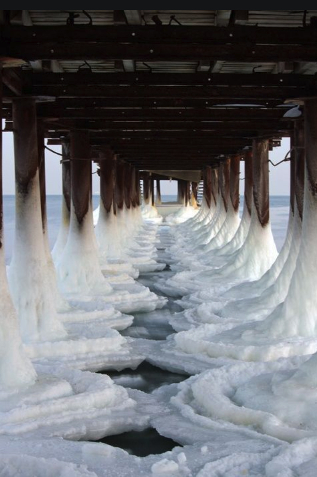 Ice pier, Black Sea, Ukraine' journal of wild culture ©2021