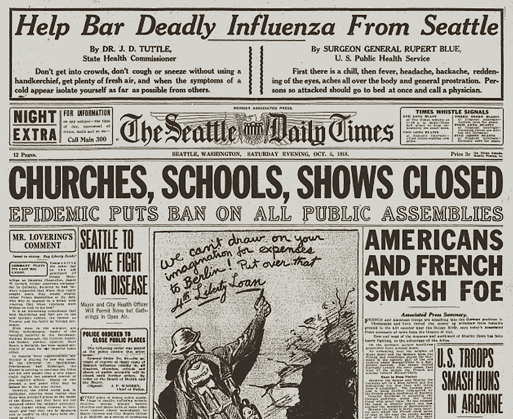 Seattle flu pandemic 1918, journal of wild culture, ©2020
