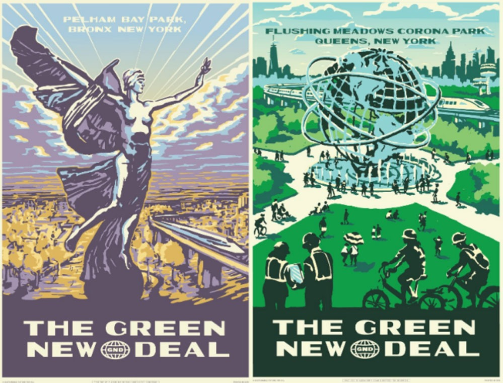 aoc-green-new-deal-diptych, journal of wild culture, ©2019