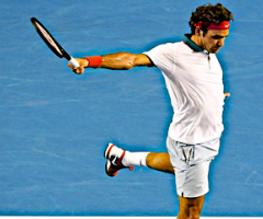 Roger Federer in the air, Wild Culture, Roger!, ©2014