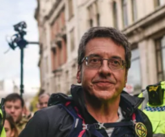 George Monbiot being arrested, journal of wild culture, ©2019