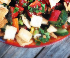 Fattoush salad, Wild Culture, ©2014, by Laura Pope